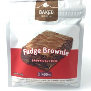 Baked Edibles – Fudge Brownie – 400mg